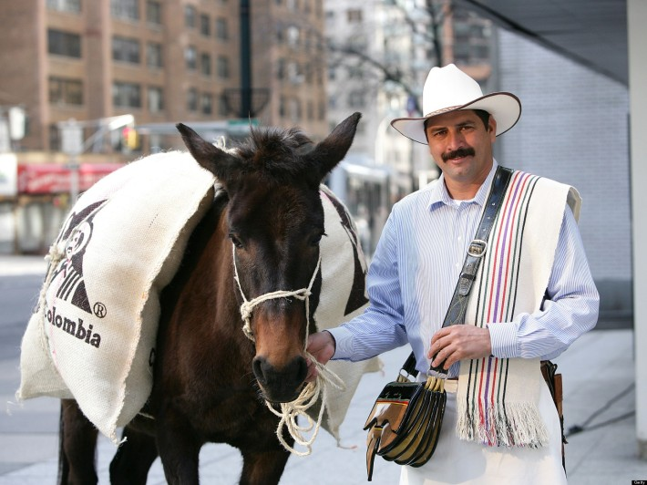 Juan Valdez Visits New York To Hand Out Cups Of 100% Colombian Coffee